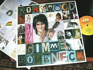 RON WOOD / Stones  -    Gimme Some Neck,    RARE ORIG 1979 UK LP / inner.... EX
