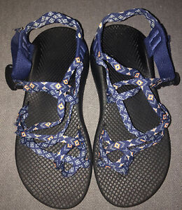 Chaco Blue/Pink Toe Loop Slingback Sandals Womens 7