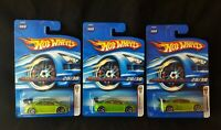 HOT WHEELS VHTF 2006 FIRST EDITIONS SERIES HONDA CIVIC SI Green Lot Of (3) New