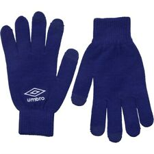 UMBRO Knitted Tech IPhone Gloves Royal Blue/White Touchscreen Compatible
