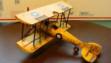 Vintage All Metal Handmade Bi-Plane Sculpture/Model