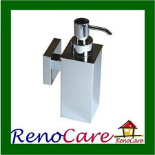 Square Brass Chrome Soap Dispenser RC-7111