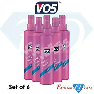 6 x VO5 200ml Hair Spray Firm Hold Gel Spray Softer Style 24HR Hold