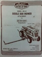 Haban Sickle Bar Mower Attachment Garden Tractor Owner Service Parts Manual 402D