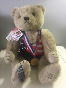 Cooperstown Bear 1992 Bruce Baumgartner Olympic Gold Medal Teddy with COA