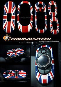 MK3 MINI Cooper/S/ONE F55 5D Hatch Union Jack Centre+ Window Control Panel Cover