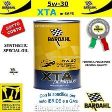 1 LITRO OLIO MOTORE AUTO BARDAHL 5W30 XTA mSAPS POLARPLUS -IBRIDO/GAS/BENZ/DIES