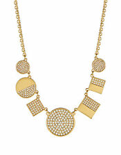 $148 Kate Spade New York Gold Plated LIGHT LANTERNS Pave Frontal Necklace NEW