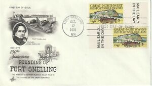 1970 USA FDC cover 150th Anniversary Fort Snelling