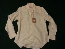 Robert Graham men's dress white cotton shirt size M new with tag