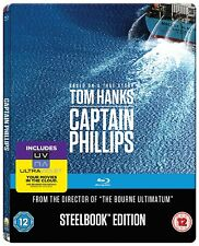 Captain Phillips w/ Limited Edition Steelbook Case (Blu-ray, Region Free) *NEW*