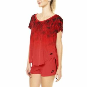 New Nike Women Top Size L/ sport tshirt/red camo/gym/training top/soft cotton