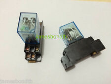 12V DC Coil Power Relay DPDT LY2NJ HH62P-L JQX-13F 10A With PTF08A Socket Base