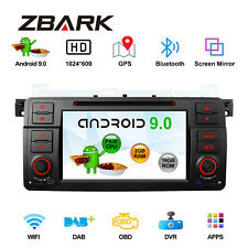 """7"""" Android 9.0 Car Stereo DVD GPS Touch Screen Radio DVR WiFi BT For BMW E46 M3"""