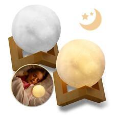 EAXUS® LED 3D Mond Lampe 🌜 Nachtlicht Touch Sensor. Moon Light Mondlicht Kinder