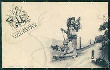 Militari 11º Battaglione Bersaglieri cartolina XF1059
