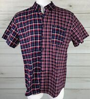 New Tommy Hilfiger Classic Fit Button Down Shirt Plaid Check XL MSRP $69 A6501