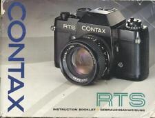 Contax RTS Camera Instruction Manual - English Edition