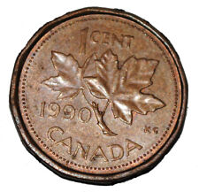 Canada 1990 1 Cent Copper One Canadian Penny Coin