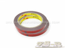 Two Rolls of 1mm thick 3M Automotive Acrylic Foam Double Sided Adhesive Tape