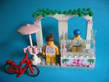 LEGO Paradisa 6402 gelati Sidewalk CAFE 2 figure e ROSSO BICICLETTA di 1994