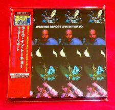 Weather Report Live In Tokyo 2 MINI LP CD JAPAN SICP-1240-41