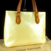 LOUIS VUITTON BRENTWOOD Tote Shoulder Bag Purse Monogram Vernis Leather M91512