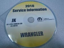 2010 JEEP WRANGLER Service Shop Repair Manual CD DVD BRAND NEW FACTORY OEM mopar