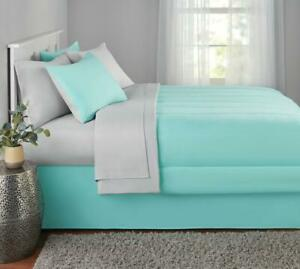 Queen Size Comforter Set New Mint Bedspread Bed in Bag Sheets Soft 8 Piece