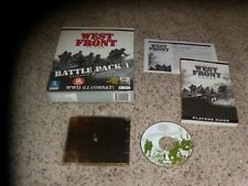 West Front Battle Pack 1 Scenario Add-On Disk (PC, 1999) Game Box & Manual