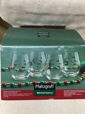 Pfaltzgraff Winterberry Set of 4 Stemless Wine Glasses NEW 2014