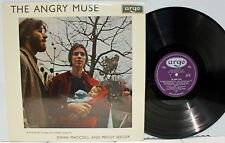 Rare Folk LP & Insert - Ewan MacColl & Peggy Seeger - The Angry Muse - UK Import