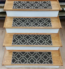 "Rug Depot 13 Transitional Carpet Stair Treads 27""x9"" Staircase Rugs Brown Nylon"