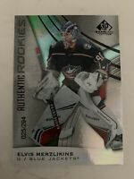2019-20 Upper Deck SP Game Used Hockey Elvis Merzlikins 025/294