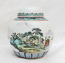Chinesische Deckelvase Porzellan-Vase in chinesischem Stil China ca. 60er Jahre