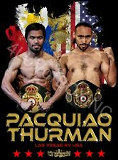 Manny Pacquiao vs Keith Thurman New Boxing Posters 4LUVofBOXING White or Black
