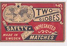 Anciennes étiquettes  Allumettes Suède BN22806 Hotel