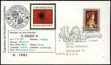 Austria 1977 Christmas Christkindl Balloon Post Cover #C18354