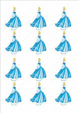 Novelty Cinderella Stand Up Fairy Cake Cupcake Toppers Edible Birthday Girls
