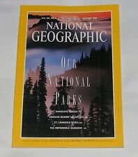 NATIONAL GEOGRAPHIC MAGAZINE OCTOBER 1994 - PARKS/HANSEATIC LEAGUE/SEAHORSES