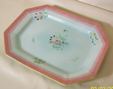 Adams Calyx Ware Lowestoft Small Rectangle Platter 11 3/4""