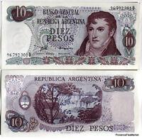 ARGENTINE billet neuf de 10 pesos  BELGRANO Pick300 CASCADE IGUAZU   1976