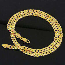 """Heavy 14k Real Gold Filled Mens Necklace 24""""/10mm Curb Chain 72g"""