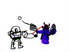 Buzz vs. Zurg (Orig. Drawing Reprint by 7-yr-old Jack; 100% of sales donated)