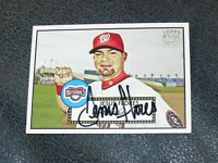 Jesus Flores AUTOGRAPHED Topps Rookie Card BASEBALL CARD
