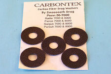 CARBONTEX PENN BATTLE,FIERCE,SARGUS 7000&8000 REELS UPGRADE SMOOTH DRAG WASHERS