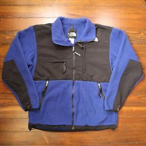 Vintage The North Face Denali Fleece Jacket - Blue - Size Large