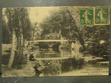 cpa 69 la turdine a st romain de popey pont de la riviere pecheur