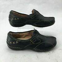 Naturalizer N5 Comfort Pursue Slip On Loafer Shoes Womens 8.5W Black Leather
