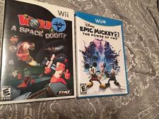 2 Wii Games, Epic Mickey 2 And Worms A Space Oddity